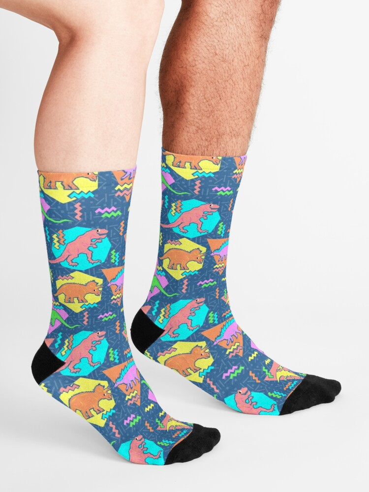 Alternate view of Nineties Dinosaurs Pattern Socks