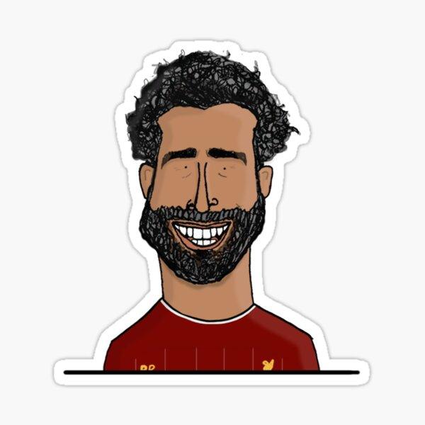 Mohamed Salah   LFC, Dreadfully Drawn Sticker