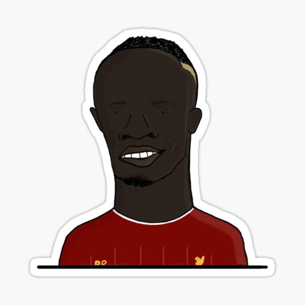 Sadio Mane   LFC, Dreadfully Drawn Sticker