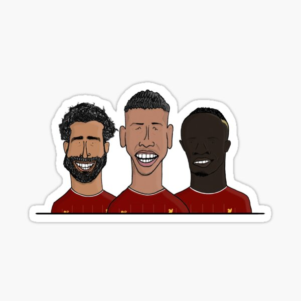 Mohamed Salah, Roberto Firmino, Sadio Mane   Dreadfully Drawn Sticker