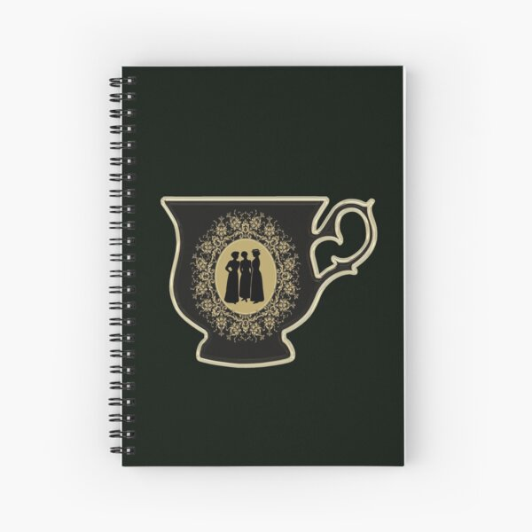 Victorian ladies tea cup Spiral Notebook