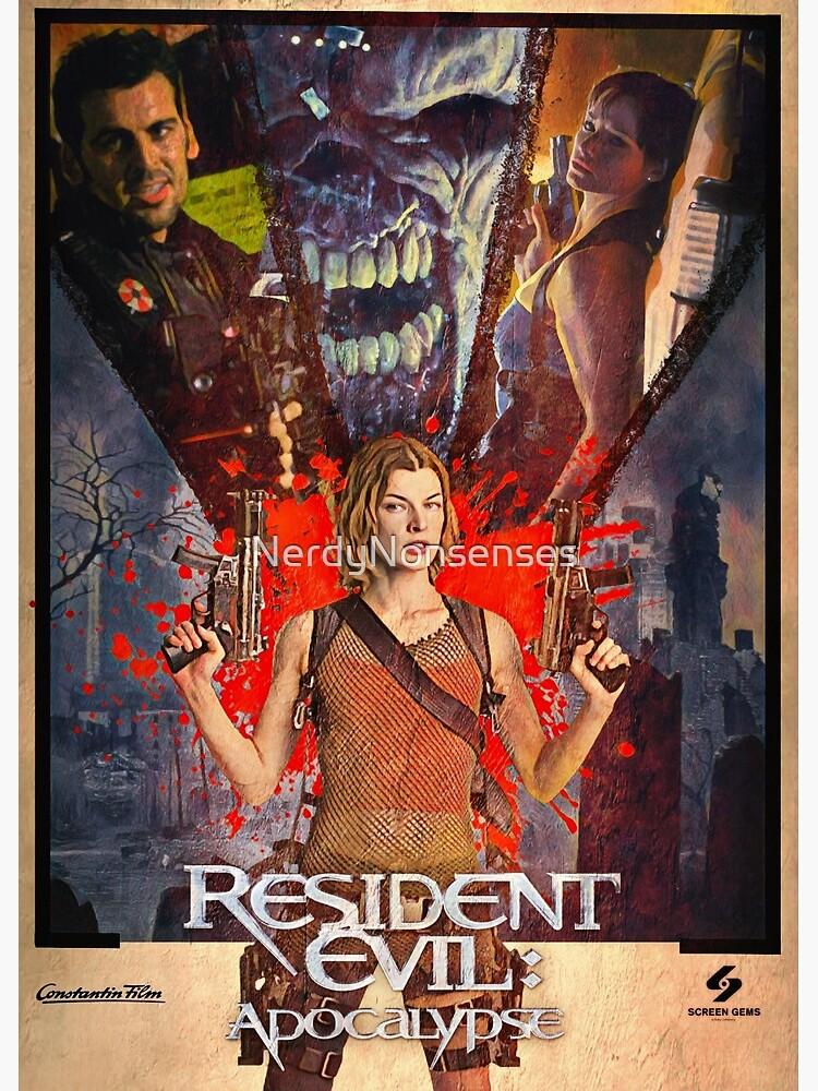 Resident Evil Apocalypse Movie Greeting Card By Nerdynonsenses Redbubble