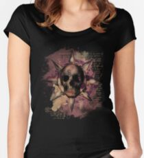 Skull Romantique Women's Fitted Scoop T-Shirt