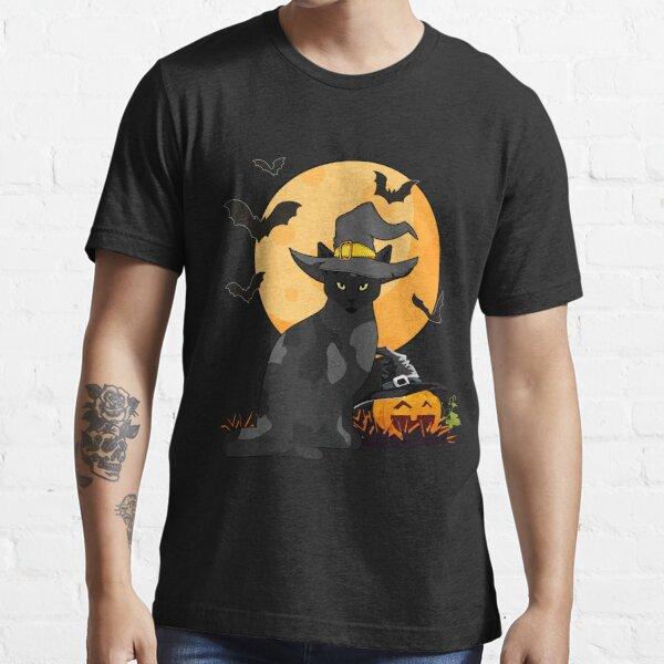 Halloween Cat Haunted Gift Essential T-Shirt