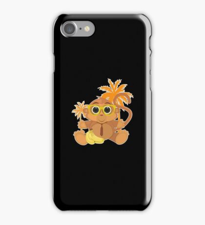 Monkey Nerd - Black iPhone Case/Skin