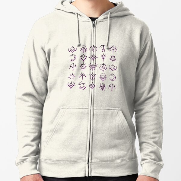 The Crests Zipped Hoodie