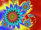 Floral Fantasia card by inkedsandra
