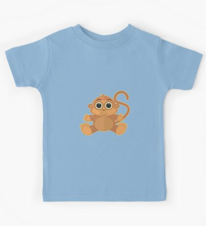 Monkey - Baby Blue Kids Clothes