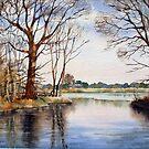 The lake at Larkwood by Ann Mortimer