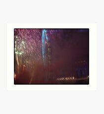 Amazing London - New year's Day Fireworks - 1st - 2011 - UK Art Print