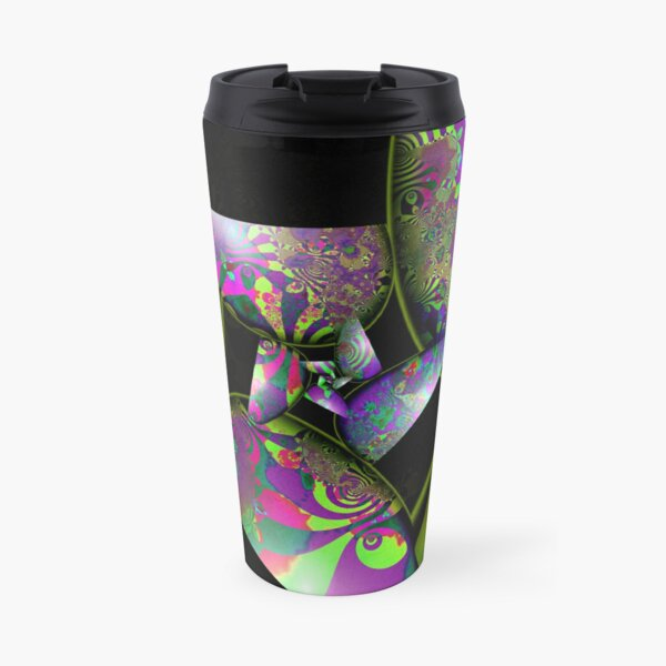 Psychedelic Garden In Pods at Night Travel Mug