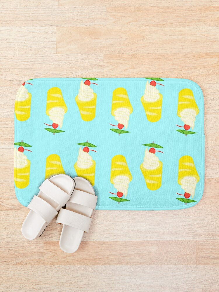 Alternate view of Summer Pineapple Float Bath Mat