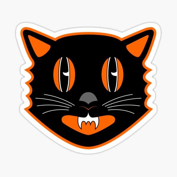 Vintage Halloween Black Cat - Scaredy Cat Sticker
