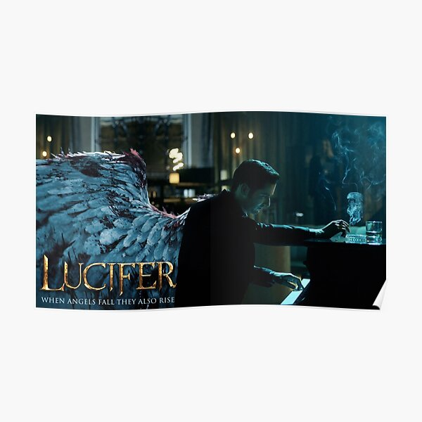 Lucifer Piano Wings Poster