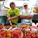 Tim and Margaret With Tomatoes by Hank Eder