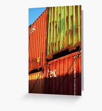Containers Greeting Card