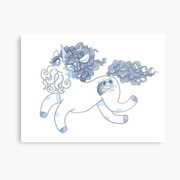 Blue Cthulhu-corn Metal Print