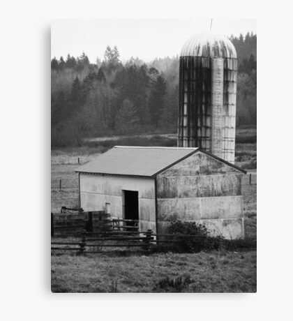 Barn and Silo 1 Canvas Print