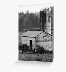 Barn and Silo 1 Greeting Card