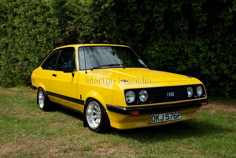 ford escort mk2 rs 2000 yellow by martyn franklin redbubble. Black Bedroom Furniture Sets. Home Design Ideas