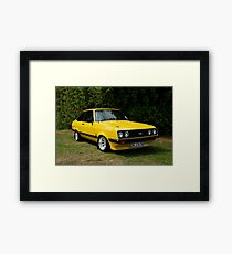 Ford Escort MK2 RS 2000 yellow Framed Print