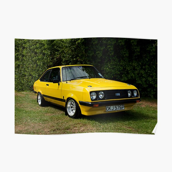 Ford Escort MK2 RS 2000 yellow Poster