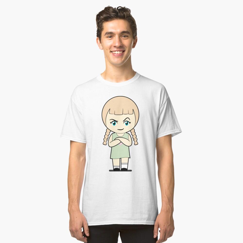 Piccola Simo  Baffled Angry Classic T-Shirt Front