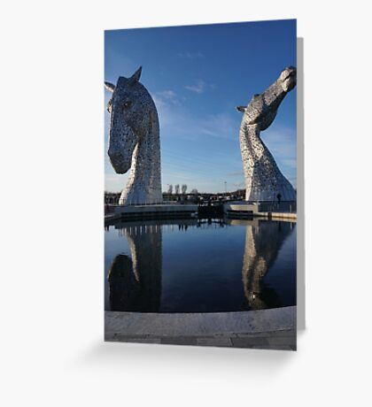 the Kelpies , Helix Park Greeting Card