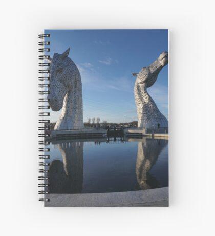 the Kelpies , Helix Park Spiral Notebook