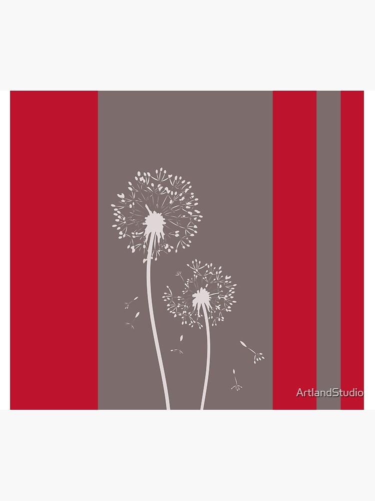 Dandelion Flowers Abstract Art by ArtlandStudio