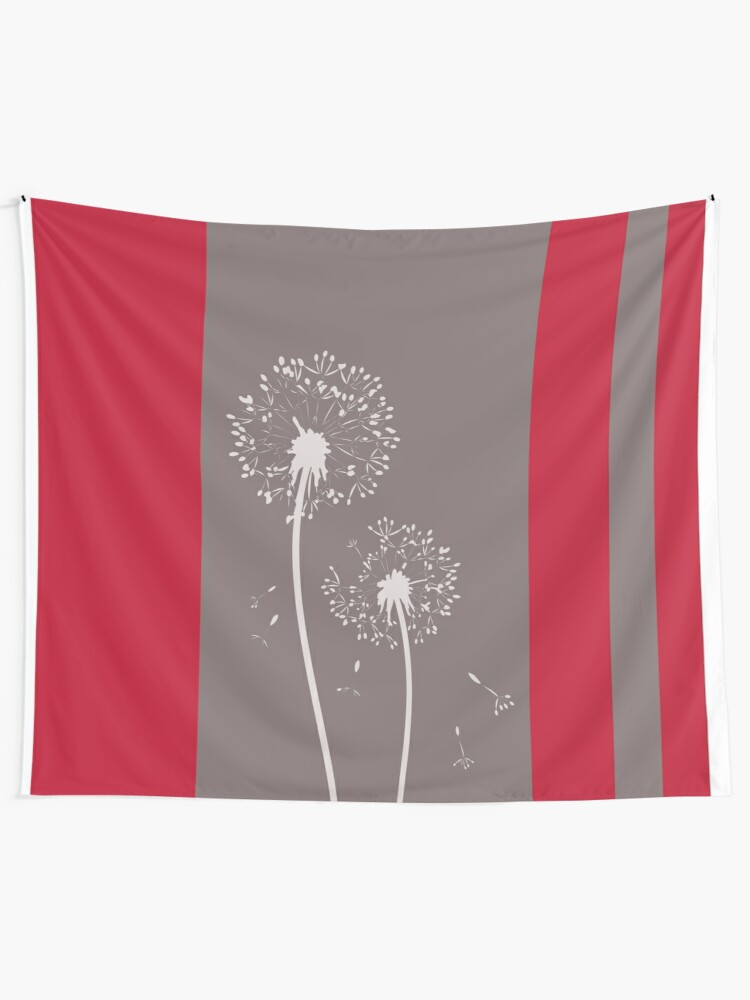Alternate view of Dandelion Flowers Abstract Art Tapestry