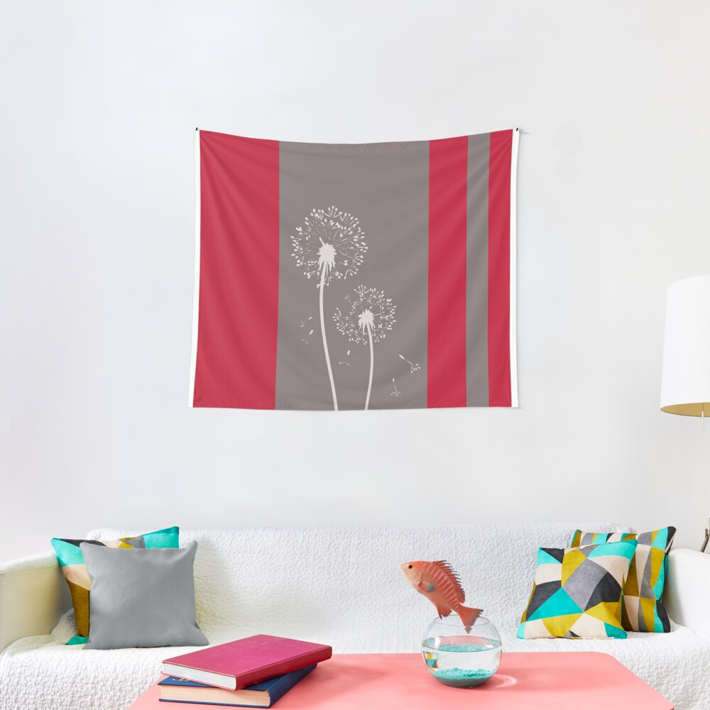 Dandelion Flowers Abstract Art Tapestry