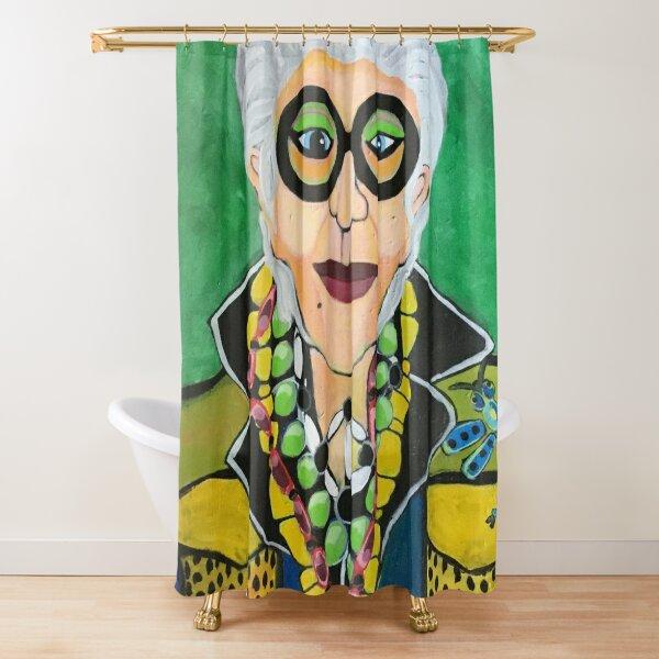 Iris Apfel More is More Shower Curtain