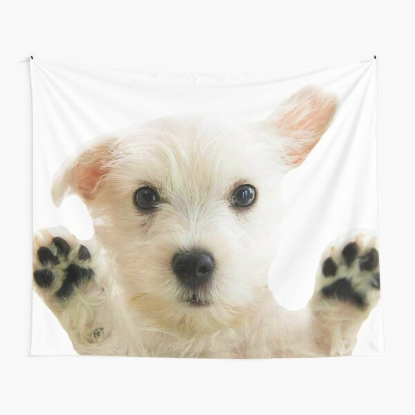 HD Dog Sticker // HD Puppy Sticker Tapestry