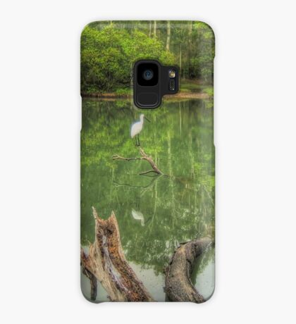 Spoonbill on a tranquil lake Case/Skin for Samsung Galaxy