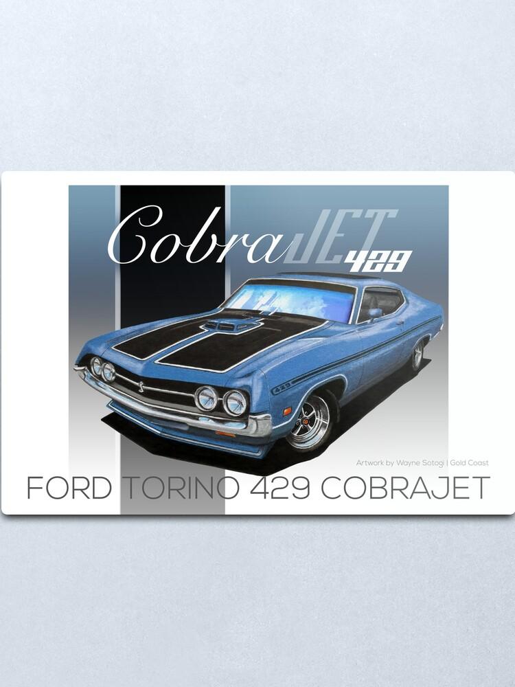 Alternate view of Ford Torino 429 CobraJet Blue - Enthusiast Series Metal Print