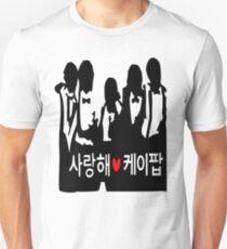 I LOVE KPOP in Korean txt Boys vector art  Unisex T-Shirt