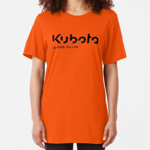 Kubota For earth For Life Logo Black Slim Fit T-Shirt