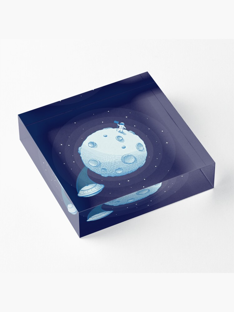 Alternate view of Invaders from Earth Acrylic Block
