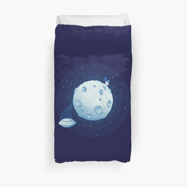 Invaders from Earth Duvet Cover