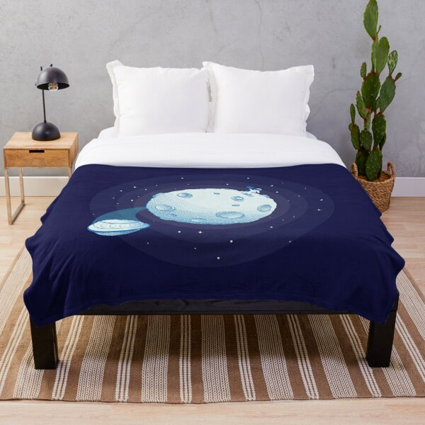 Invaders from Earth Throw Blanket