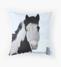 One Blue Eye Throw Pillow