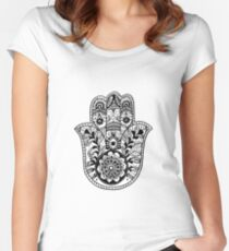 The Hamsa Hand Women's Fitted Scoop T-Shirt