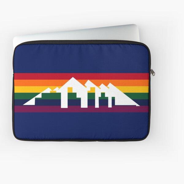 Denver Basketball City Background Design Laptop Sleeve