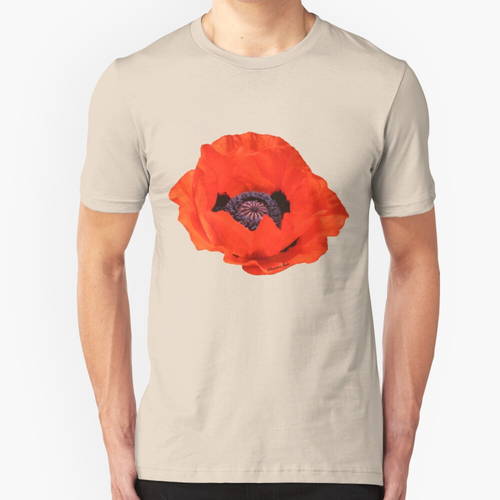In Flanders Fields the Poppies Blow Slim Fit T-Shirt