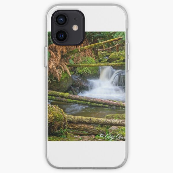 Mini waterfall in the Toorongo River, Tooronga Falls Reserve, Noojee iPhone Soft Case
