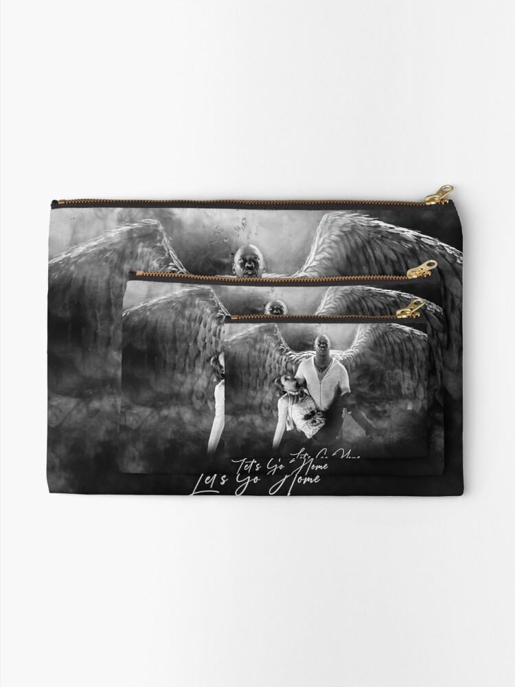 Alternate view of Amenadiel and Charlotte - Heaven Artwork Zipper Pouch