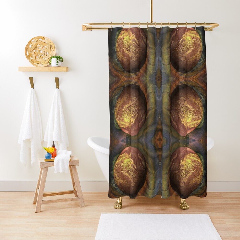 Desert Moon: outer space planet Shower Curtain