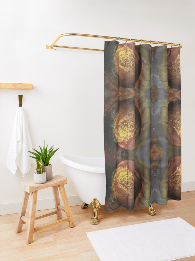 Alternate view of Desert Moon: outer space planet Shower Curtain
