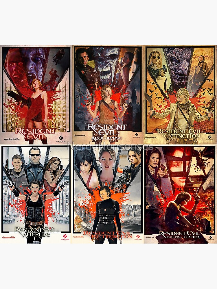 Resident Evil Movie Poster Collage Greeting Card By